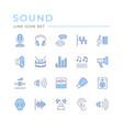 set color line icons sound vector image