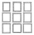 set doodle black borders vector image vector image