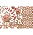 Set of floral seamless background and border with vector image vector image