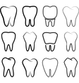 Set of the stabilized teeth on a white background vector image vector image
