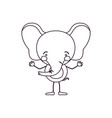 sketch contour caricature of cute elephant vector image vector image