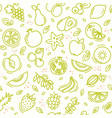 sketch mixed fruits seamless summer pattern vector image vector image