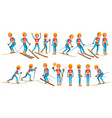 skiing male player winter games competing vector image vector image