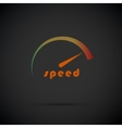 Speedometer icon Logo company Internet speed vector image vector image