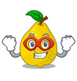 super hero bunch cartoon of juicy yellow quinces vector image