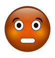 surprised emoticon funny icon vector image vector image