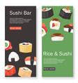 sushi bar set banners vector image vector image