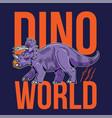 triceratops big dangerous dino dinosaur vector image