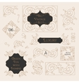 Vintage Decorations Design Elements vector image vector image