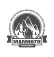 Vintage mountain explorer labels vector image