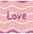 Wavy seamless pattern with Love inscription in vector image vector image