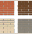 white red brown gray brick wall pattern vector image vector image
