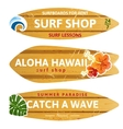 wooden surfboards vector image vector image