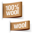 Wool product clothing labels vector image vector image