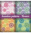 Flowers Seamless pattern set Abstract background vector image