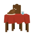 kitchen table wooden icon vector image