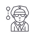 sheriff policeman line icon sign vector image