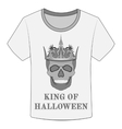 T-shirt King of Halloween vector image