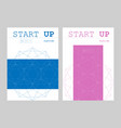 brochure creative design with hexagon pattern vector image