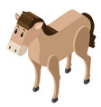 3d design for cute horse vector image