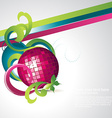 abstract discoball party vector image