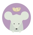 animal set portrait in flat graphics - mouse vector image