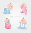 baby boy and girl set vector image vector image