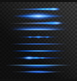 blue and neon light flashes glow lines vector image
