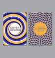 blue orange color scheme book cover design vector image