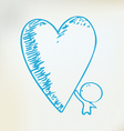 caring heart vector image vector image