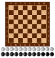 checkers ancient intellectual board game chess vector image vector image