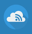 Cloud Computing Flat Icon Wireless Network vector image vector image