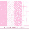 collection of cute seamless patterns in vector image vector image
