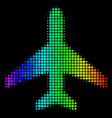 colored pixel air plane icon vector image vector image