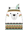 cute tribal bear isolated vector image vector image