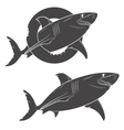 Drawing of a terrible shark isolated objects vector image vector image