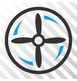 Drone Screw Rotation Eps Icon vector image vector image