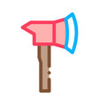 firefighter axe hatchet icon outline vector image