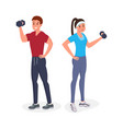 fitness man and woman vector image