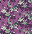 Floral seamless pattern on with hand drawn vector image