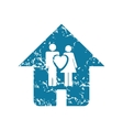Grunge family house icon vector image vector image