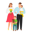 happy young family vector image vector image