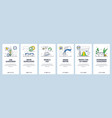 healthy sunbathing tips mobile app onboarding vector image