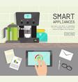 home smart appliances remote control concept flat vector image vector image