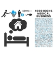 House Dreams Icon with 1000 Medical Business vector image