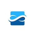 infinity wave logo icon design vector image vector image