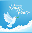 international day peace banner poster with vector image vector image