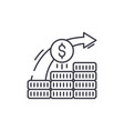 investment system line icon concept investment vector image vector image