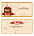 invitation party card birthday wedding vector image vector image