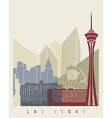 Las Vegas skyline poster vector image vector image